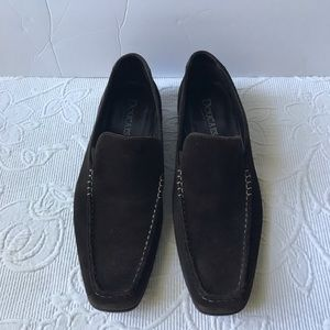 Doucal's Brown suede slip on shoes madrina Italy